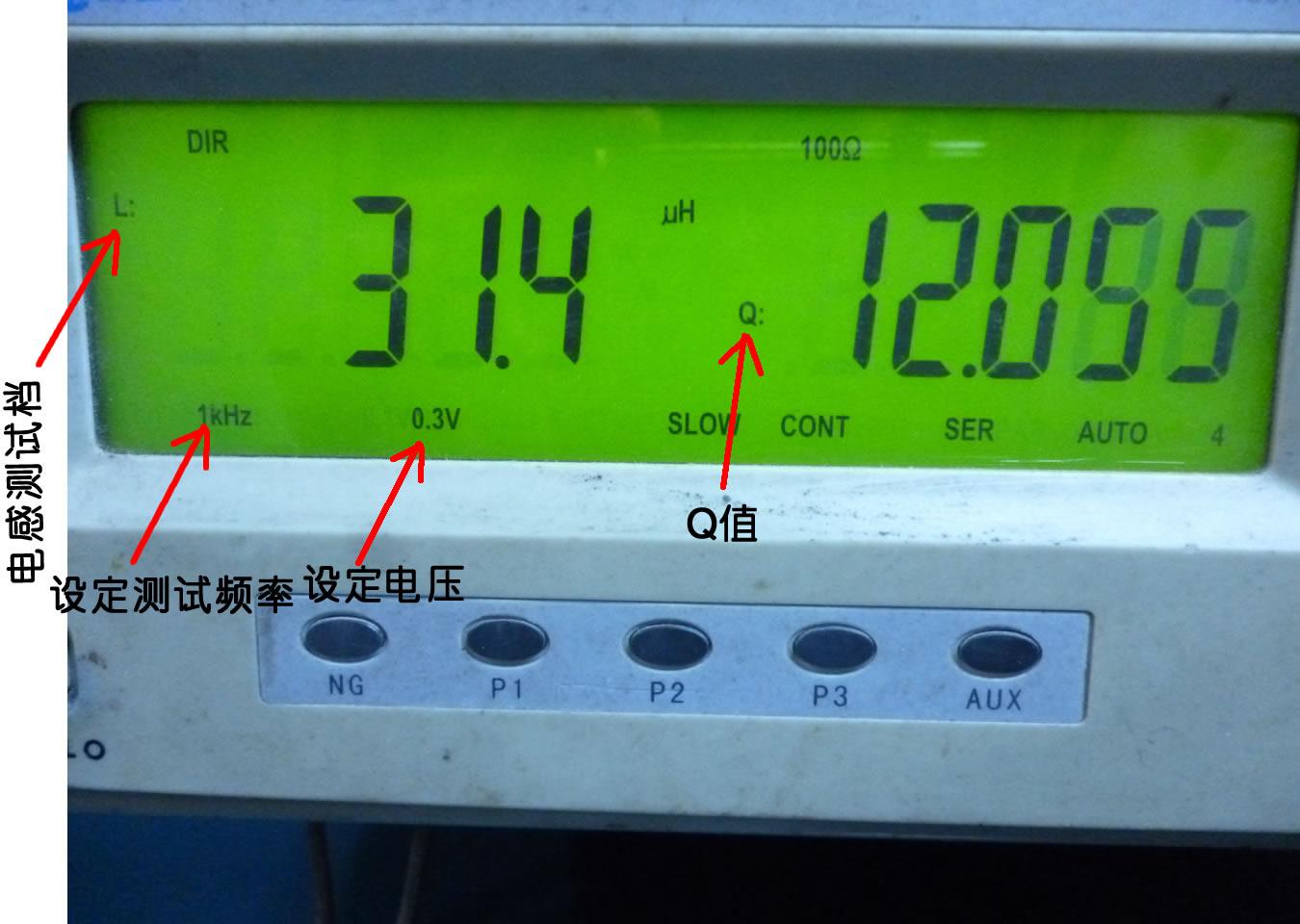 TH2810电感测量仪器显示介面