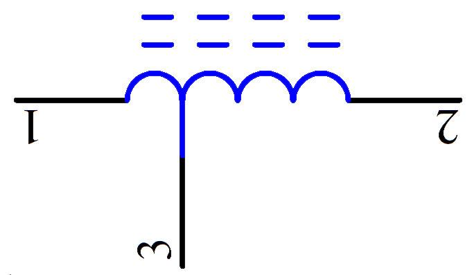 共模电感符号