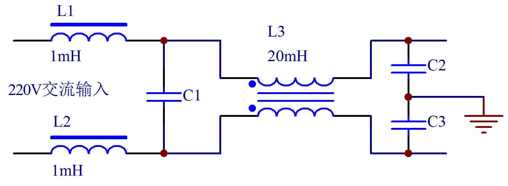 共模和差模电感电路