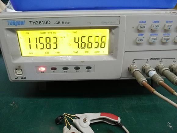 三脚电感次级电感量测试
