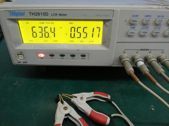 三脚电感初级电感量测试