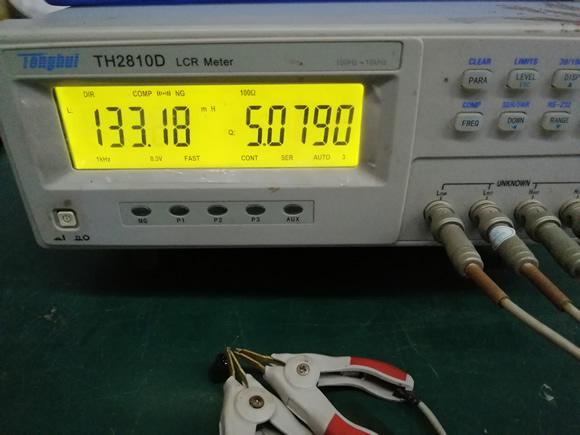 三脚电感总电感量测试