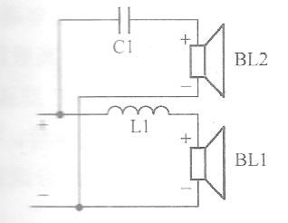 单6dB二分频扬声器电路
