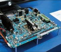 英特尔公司展出的最新的凌动处理器E6xx系列嵌入式方案