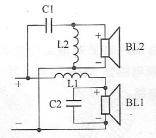 双12dB型二分频扬声器电路