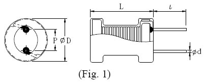 100uH 6*8工字电感尺寸图