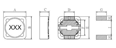 大功率屏蔽电感封装