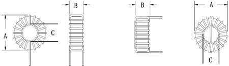 环形电感尺寸示意图片