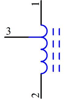 三脚电感等效对等电路图