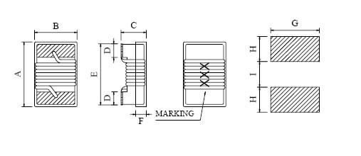 绕线贴片电感封装图