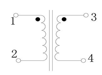 双层工字电感等效电气原理图