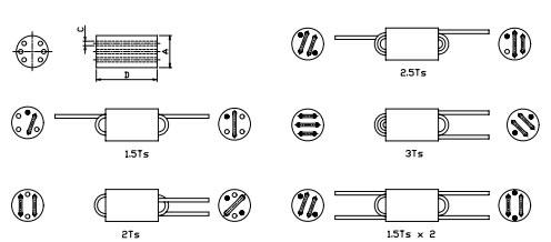 六孔磁珠绕线示意图